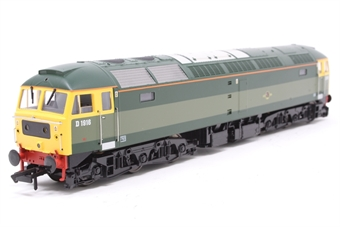 """4792-PO Class 47 diesel D1916 (47812) in Riviera Trains """"Heritage"""" BR Green livery with full yellow ends - Pre-owned - DCC fitted"""