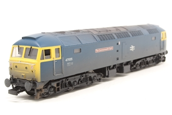 4793-PO03 Class 47/4 47555 'The Commonwealth Spirit' in BR blue livery (weathered).  - Pre-owned - DCC sound fitted - missing coupling hook