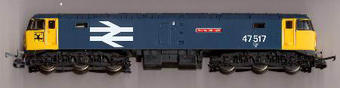 """L204923 Class 47/4 47517 """"Andrew Carnegie"""" in BR Highland livery with large logo"""