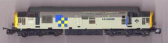 L204964 Class 37 diesel 37715 Construction markings one side and Petroleum the other