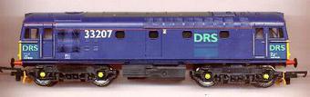 L204986 Class 33 Diesel. 33207 Direct Rail Services blue