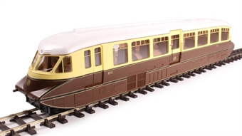 4D-011-000 Streamlined Railcar 11 in GWR lined chocolate and cream with shirtbutton emblem £123.25