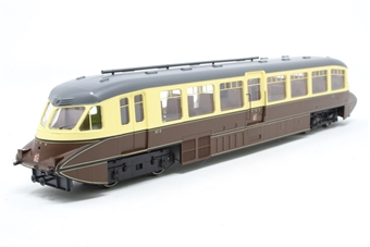4D-011-004-PO01 Streamlined Railcar 8 in GWR lined chocolate and cream with Twin Cities crest - Pre-owned - Like new