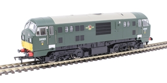 4D-012-007 Class 22 D6321 in BR green with small yellow panels and headcode boxes