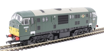 4D-012-009D Class 22 D6322 in BR green with small yellow panels and disc headcodes - DCC fitted