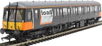 4D-015-007D Class 122 single car DMU 'Bubblecar' 55012 in LoadHaul black and orange - Digital fitted