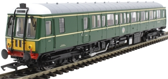 4D-015-009D Class 122 single car DMU 'Bubblecar' W55006 in BR green with small yellow panels - Digital fitted
