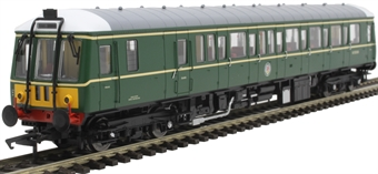4D-015-009 Class 122 single car DMU 'Bubblecar' W55006 in BR green with small yellow panels