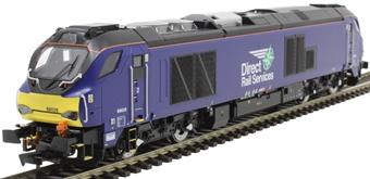 4D-022-015 Class 68 68026 in Direct Rail Services plain blue
