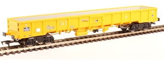 "4F-010-005 JNA ""Falcon"" bogie ballast wagon NLU29001 in Network Rail yellow"