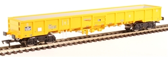 "4F-010-007 JNA ""Falcon"" bogie ballast wagon NLU29046 in Network Rail yellow"