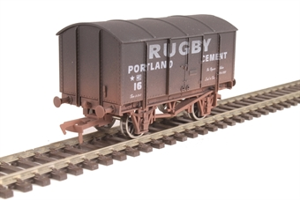 "4F-013-026 4-wheel gunpowder van ""Rugby Cement"" - weathered"