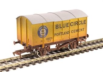 "4F-013-038 4-wheel gunpowder van ""Blue Circle"" - weathered"