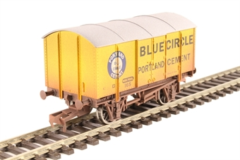 "4F-013-123 4-wheel Gunpowder van - ""Blue Circle"" - weathered"