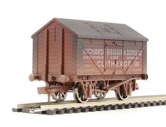 """4F-017-006 Lime wagon """"Richard Biggs No.189"""" - weathered"""