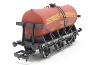 """4F-031-011-PO04 6 wheel milk tanker """"Independent Milk Supplies"""" - Pre-owned - detailed with appropriate LMS signs on sole bar"""