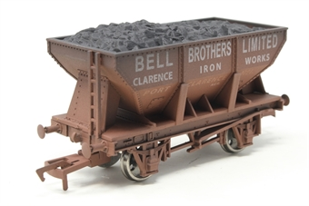 """4F-033-004-PO01 24 Ton steel ore hopper """"Bell Bros"""" - weathered (ex-B1013W/B868W) - Pre-owned - Like new, imperfect box"""