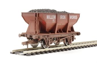 "4F-033-006 24 Ton steel ore hopper ""Millom Iron Works"" - weathered"
