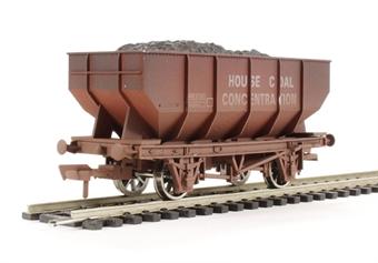 "4F-034-006 21 Ton hopper wagon ""House Coal Conc #B429911"" - weathered"
