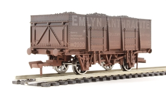 """4F-038-002 20T steel mineral wagon """"Emlyn Anthracite"""" - weathered"""