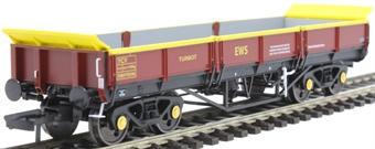 4F-043-002 YCV 'Turbot' bogie ballast wagon DB978396 in EWS maroon