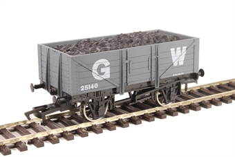4F-051-043 5-plank open wagon 25140 in GWR grey