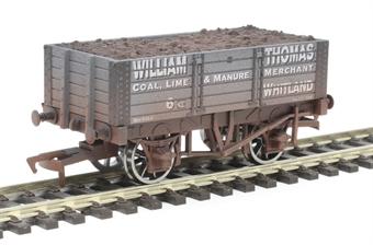"4F-052-020 5 plank open wagon ""William Thomas & Company, Whitland"" - weathered"