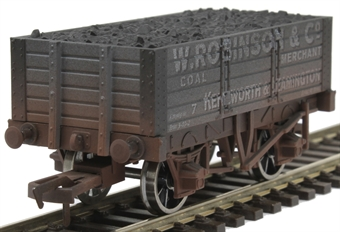 "4F-052-022 5-plank open wagon ""W Robinson"" - weathered"