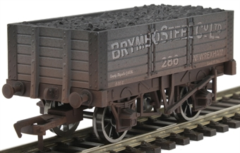 "4F-052-034 5-plank open wagon ""Brymbo Steel"" - weathered"