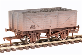 4F-071-012 7 plank open wagon B238761 in BR grey - weathered
