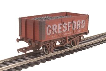 "4F-071-137 7-plank open wagon ""Gresford, Wrexham"" - weathered"