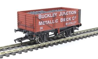"""4F-071-152 7 plank open wagon """"Buckley Junction Brick Company, Buckley"""""""