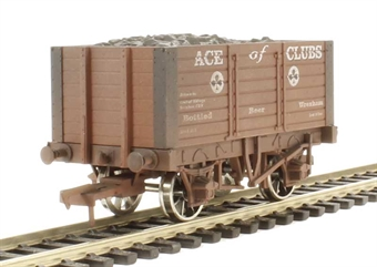 4F-072-006 7 Plank 9 Ft Wheelbase Ace Of Clubs - weathered