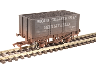 "4F-072-022 7-plank open wagon ""Mold Colliery"" - weathered"