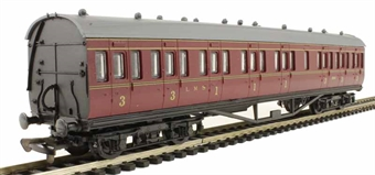 4P-010-027 RTR 57ft Stanier non-corridor composite in LMS lined maroon 19195