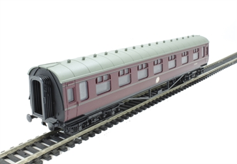4P-010-033 60Ft Stanier Corrirdor CompBR Maroon Lined M3898M