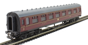 4P-010-043 60 Ft Stanier Corridor Composite LMS Lined Maroon 3942