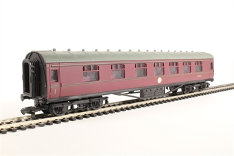 4P-010-045 60 Ft Stanier Corridor Comp BR Maroon Lined M3872M
