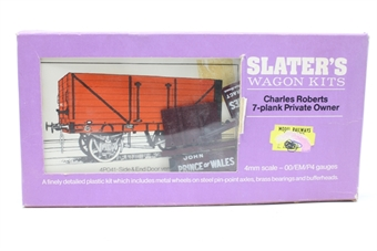 4P040-1-PO Charles Roberts 7 Plank Wagon 'Vauxhall' kit - Pre-owned - imperfect box
