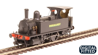 """4S-018-001D LSWR Class B4 0-4-0T 96 """"Normandy"""" in LSWR black - as preserved - DCC fitted"""