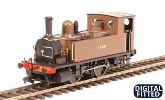 """4S-018-002D LSWR Class B4 0-4-0T 90 """"Caen"""" in Southampton Docks brown - Digital fitted"""