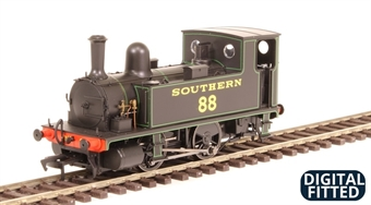 4S-018-003D LSWR Class B4 0-4-0 88 in Southern Railway lined black - DCC fitted