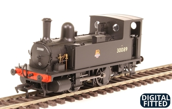 4S-018-004D LSWR Class B4 0-4-0T 30089 in BR black with early emblem - DCC Fitted