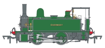 """4S-018-007 LSWR Class B4 0-4-0T 176 """"Guernsey"""" in LSWR Southampton docks lined green"""