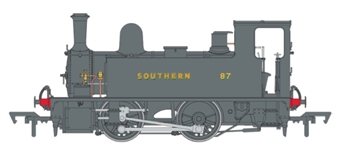 4S-018-009D LSWR Class B4 0-4-0T 87 in SR wartime black - Digital fitted