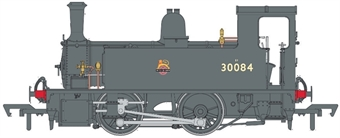 4S-018-011D LSWR Class B4 0-4-0T 30084 in BR black with early emblem - Digital fitted