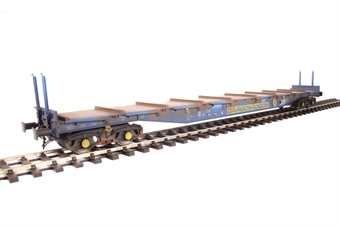 5151 Bogie flat IWB Cargowaggon 4647026 in silver and blue - weathered