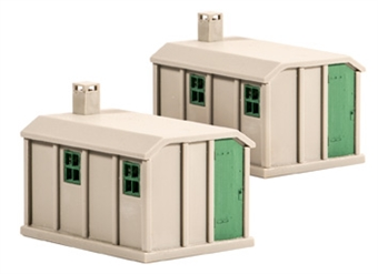 518 Concrete lineside huts - pack of two - plastic kit
