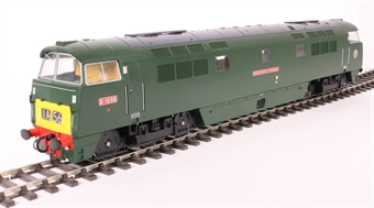 "5285 Class 52 D1035 ""Western Yeoman"" in BR green with small yellow panels"