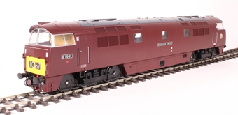"5286 Class 52 D1061 ""Western Envoy"" in BR maroon with small yellow panels"